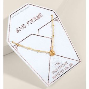Francesca's Good Fortune Cookie Necklace